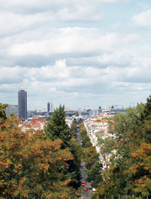 The view from the highest point at Kreuzberg