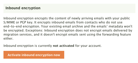 Activating Encryption