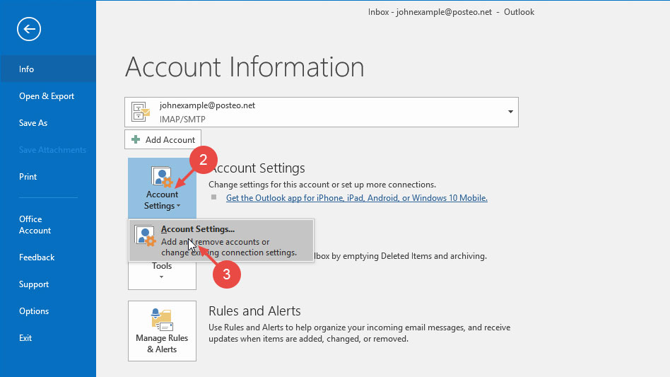 Help - Can I use my Posteo alias in Outlook? - posteo de