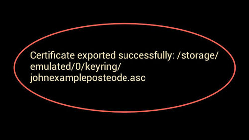 PGP KeyRing: export public key - success